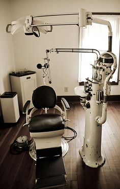Dentist Chair by Athena Mckinzie - Dentist chair and office by Athena Mckinzie. … -Vintaged Dentist Chair by Athena Mckinzie - Dentist chair and office by Athena Mckinzie. … - This is honestly what my dentist's office looked li. Architecture Old, Historical Architecture, Doctors Office Decor, Art Photography Portrait, My Dentist, Doctor Gifts, Medical Art, Office Wall Art, Office Interior Design