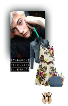 """""""Starbucks With Lucky Blue Smith"""" by tasniaisacutie666 ❤ liked on Polyvore featuring VILA, Chloé, Givenchy, Michael Kors, women's clothing, women, female, woman, misses and juniors"""