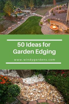 Lawn edges add easy definition to your yard, they provide the finishing touches to gardens, lawns, and pathways, with minimal effort and cost from you – kind of like the bow tie on top of the tuxedo! Here are some ideas! Lawn Edging, Garden Edging, Lawn And Garden, Garden Tools, Garden Ideas, Pergola Pictures, Farmhouse Garden, Landscape Edging, Outdoor Garden Furniture