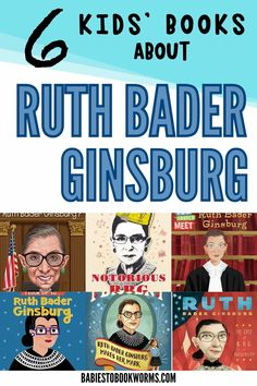 Introduce kids to a legend with these children's books about Ruth Bader Ginsburg, and RBG quotes!