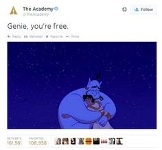 From the Academy in memory of Robin Williams