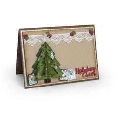 Sizzix Thinlits Die Set 9PK - Christmas Tree, Flip & Fold - 662281 | eBay