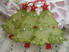 Green Christmas Trees | Handmade by me. TFL :) | Flickr