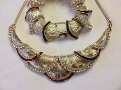 RARE Coro Adolph Katz 1940s Red & Clear by SweetBettysBling, $285.00