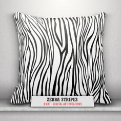 #Black and #white #pillows... #blackandwhite #animalprint #zebrastripes #blackandwhitepattern #zebrapattern #cushion #throwpillows #zazzler #zazzle #zazzleshop #digitalartcreations