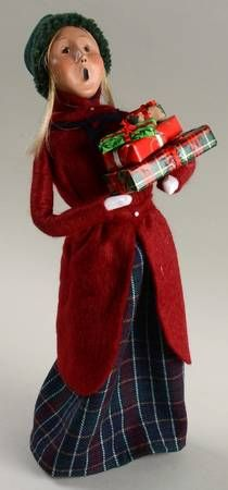 Byers Choice LtdByers Choice Carolers at Replacements, Ltd Piece Code: NB147  Piece Name: Woman With Presents - No Box  Style: 1998  Our Price Each: $99.95
