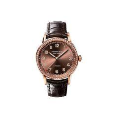 Tiffany CT60® 3-Hand 34 mm women's watch in 18k rose gold.