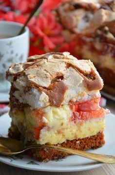 Ciasto nic Polish Desserts, Polish Recipes, Cookie Desserts, Fruit Recipes, Cooking Recipes, Unique Desserts, Breakfast Menu, Sweets Cake, Pumpkin Dessert