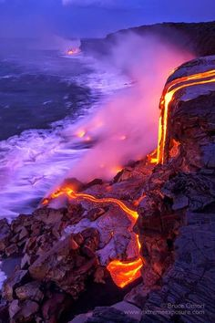 Kilauea volcano, Hawaii, USA  Kīlauea is a currently hyperactive shield volcano in the Hawaiian Islands, and the most active of the five volcanoes that together form the island of Hawaiʻi, and, perhaps, the most active volcano on earth.