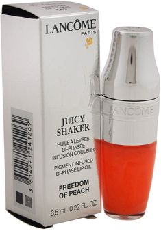 Lancôme Juicy Shaker # 142 Freedom Of Peach 0.22Oz Lip Oil