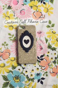 Custom cell phone case using Mod Podge Gloss and glitter!