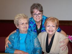 Sami and her two sisters at our fiftieth anniversary party in Texas.