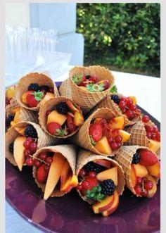 Cono de fruta