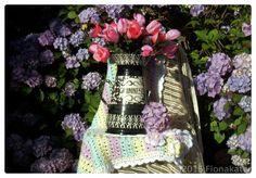 Pretty Crochet  Blanket by madebyFionaKate on Etsy