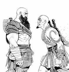 God of War,Игры,God of War арт,game art Kratos God Of War, Good Of War, King's Quest, Video Game Art, Video Games, Fan Art, Geek Culture, Game Character, Fantasy Characters