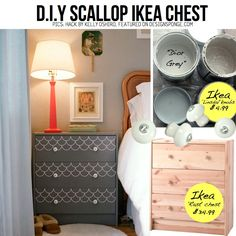 Fan DIY project with the IKEA RAST chest with LINDSDAL knobs.