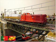 Ferrocarriles ibéricos. Cimpor, Takargo y 313 CP. Escala H0.