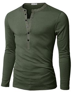 Doublju Mens Henley T-shirts with Long Sleeve KHAKI (US-S) Doublju http://www.amazon.com/dp/B004VPBW8Y/ref=cm_sw_r_pi_dp_Pe.Ovb08BY67G
