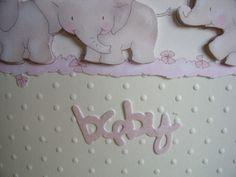 New Baby Girl Elephant Card £1.75
