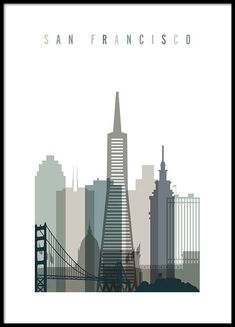 San Francisco Skyline Poster in the group Handpicked at Desenio AB (2349)