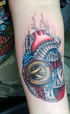 heart tattoo steampunk | My fiances steampunk heart she got on Valentines Day...artist Kris ...