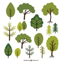 Trees and leafs collection Free Vector Cartoon Trees, Plant Illustration, Map Design, Tree Designs, Art Plastique, Vector Art, Tree Vector Png, Tree Clipart, Graphic