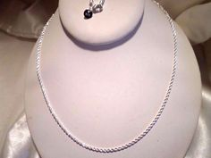 """mens/womens 20""""/22""""/24""""-2mm twisted rope chain necklace sterling silver plated"""