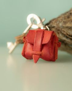 Backpack leather keychain leather keyfob custom от secondstudio