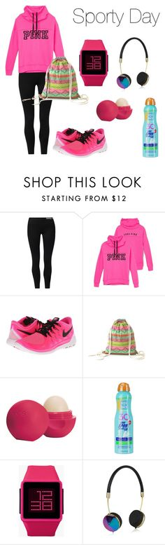 """""""Outfit #3"""" by screepted ❤ liked on Polyvore featuring NIKE, Eos, Kiss My Face, Nixon and Frends"""