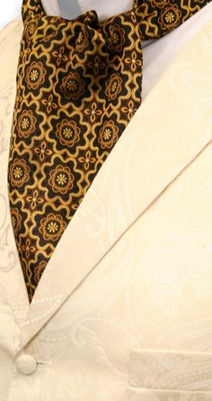 Medallion Ascot - Black/Gold