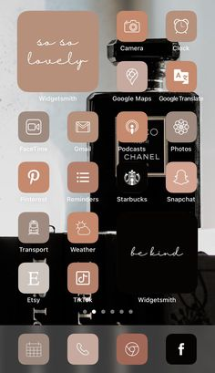 Want a home screen that looks like this? Check out SOSO Branding on Etsy (etsy.com/shop/sosobranding) for app covers to customize your home screen and make it aesthetically pleasing!   iPhone home screen ideas | Home screen inspo | Aesthetic home screen inspiration | Widgetsmith Shortcuts app | Aesthetic home screen inspo | iOS 14 widget photos | iOS 14 app covers | iOS 14 app icons Tinder Tips, Microsoft Visio, Shortcut Icon, Any App, App Covers, Open App, Ios Icon, Brown Aesthetic, Iphone App
