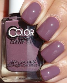 Brand: Color Club // Collection: Shift Into Neutral (2015) // Color: Midnight Mulberry // Blog: KellieGonzo