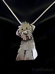 Plata Collar con bigote-remolque-Perro-Dog