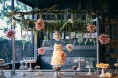 Whimsical Dahlia Dessert Display