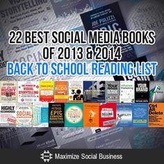 22 Best Social Media Books of 2013 and 2014 Back to School Reading List