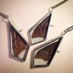 Night Dreams: Real Dry Preserved Bat Wing Framed in Glass Teardrop Pendant Necklace by BoneLust