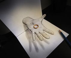 Anamorphic 3D Illusion Drawings by Alessandro Diddi