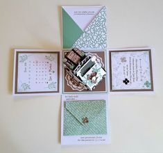 Bildergebnis für stampin up Exploding Boxes, Mini Albums, Stampin Up, Birthday Gifts, Gallery Wall, Cricut, Frame, Projects, Wedding