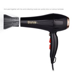Professional Hair Dryer With Nozzle, Super Power Hair , Salon Styling Tools Hair Drier , Hot Cold Air Speed , Adjust Hair Blower. Professional Hair Dryer, Professional Hairstyles, Hair Blower, Moisturize Hair, Styling Tools, Blow Dry, Flat Iron, Dry Hair, Plastic Models