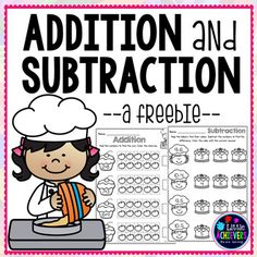 Cupcake addition and subtraction worksheets for your students to practice math facts. This no-prep packet includes 10 worksheets. Great for morning work, math centers, or homework. I appreciate your feedback! Click here to check my other