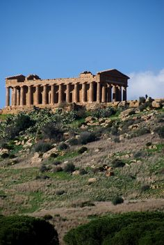 The Valle dei Templi is an archaeological site in Agrigento (ancient Greek Akragas), Sicily, southern Italy.