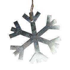 Zinc Snowflake Decoration - 9.5cm - Tree Decorations