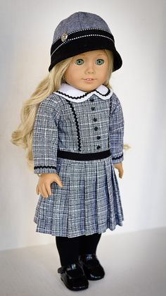 Classic Fall Dress for Historical or Modern Doll by AnnasGirls, $52.00