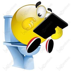 iPad on the potty Smiley Smiley Emoticon, Happy Smiley Face, Emoticon Faces, Funny Emoji Faces, Funny Emoticons, Smileys, Emoji Images, Emoji Pictures, Funny Pictures