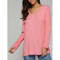 SHARE & Get it FREE | V Neck Ribbed Knitted SweaterFor Fashion Lovers only:80,000+ Items·FREE SHIPPING Join Dresslily: Get YOUR $50 NOW!