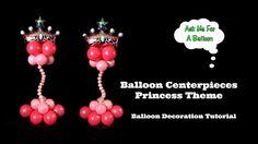 Balloon Centerpieces Princess Theme - Balloon Decoration Tutorial