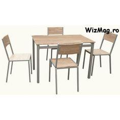 Set masa cu 4 scaune WIZ MBS-1 The Wiz, Dining Table, Furniture, Home Decor, Decoration Home, Room Decor, Dinner Table, Home Furnishings, Dining Room Table