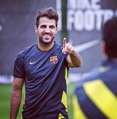 Fabregas  FC Barcelona training