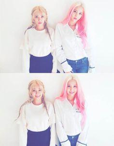 aoa - hyejeong & yuna