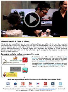 La Newsletter con gli eventi culinari della Milanofoodweek e del Taste of Milano